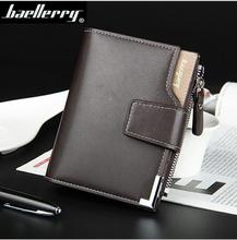 Latest Baellerry men <strong>wallet</strong> business style short PU leather <strong>wallet</strong> for men