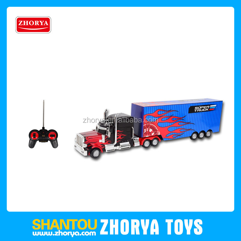 4 ch battery operated truck car rc container truck toys kids radio control toys Optimus Prime car