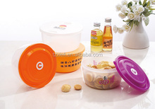 household container plastic PP round food container storage box 1200ml