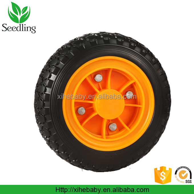 Small rubber wheel with bearings, custom 12 inch solid rubber wheel for toys