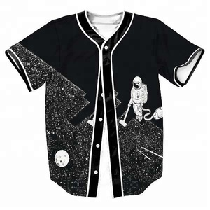Drop Shipping all over print 100% polyester custom sublimation baseball jersey