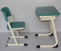 Children Study Desks and Chairs Set PP Metal Commercial School Furniture