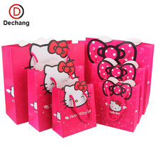 Cute Pink Candy Eco-Friendly Promotional Gift Shopping Paper Bag For Kids