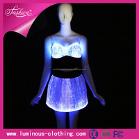 2015 LED luminous sexy club girls christmas party dress night wear