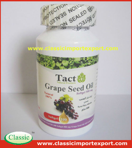GMP Certified 500mg/1000mg Grape seed oil Softgels in bottles or blister card