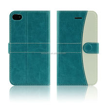 2014 high quality for apple iphone 4 4 s original luxury pu leather mobile phone cover case