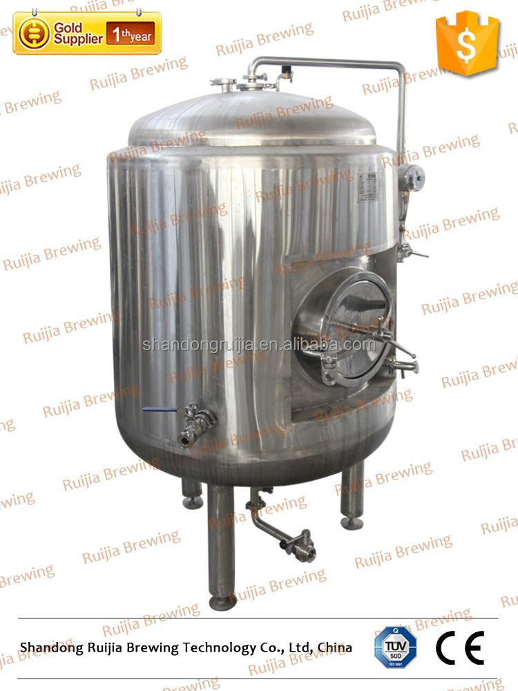 4BBL commercial brewery equipment SUS 304 double layer fermentation tank with cooling jacket