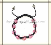 Fashion accessories pink shamballa bracelet