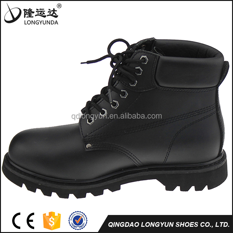 Goodyear Middle Cut Smooth Action Leather Upper Rubber Outsole Industrial Safety Shoes Price