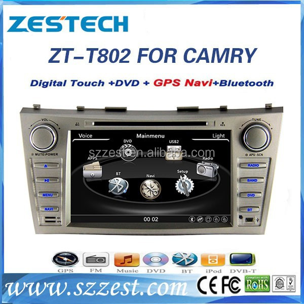 ZESTECH In dash 2din with HD display bluetooth GPS USB SD DVD Radio TV with car dvd player for Toyota Camry