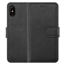 Matt PU Wallet Case For Iphone X Leather Flip Cover For iPhone X Card Slots Case