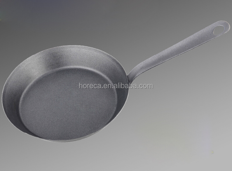 Stainless steel cast iron carbon steel chinese frying pan skillet hand pan
