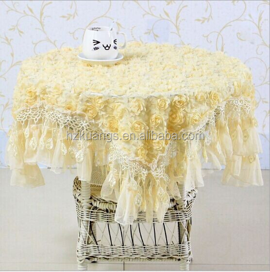 wedding lace plastic tablecloth