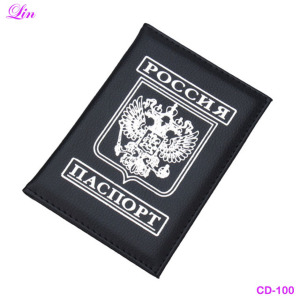 Free Shipping by DHL/FEDEX Russian PU leather travel passport holder
