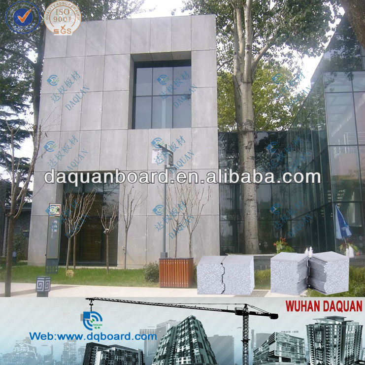 safe and environment protective building material 2013 WUHAN earthquake resistance wall panel