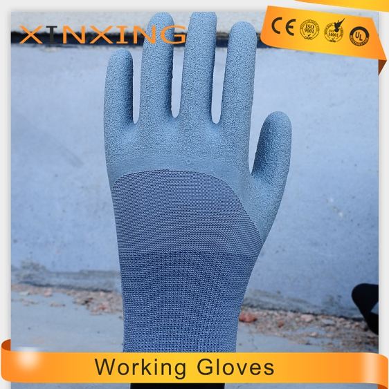13G polyester 3/4 latex coated Hand Protective Gloves latex coated work gloves en388/420
