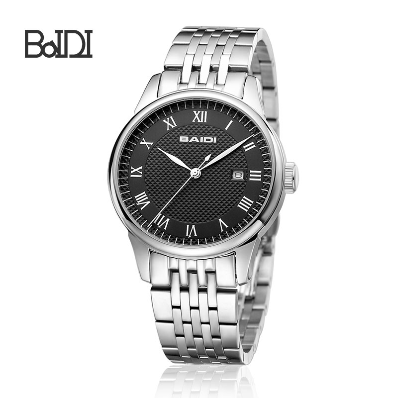 Quartz Stainless Steel Watch Water Resistant Stainless Steel Watch
