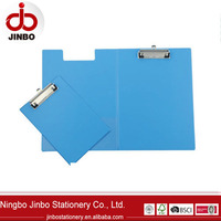 Double side PVC folder clipboard with metal clip for sale,pvc clip board
