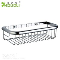 china supplier Wall aluminum bathroom basket, simply bathroom accessories xiduoli
