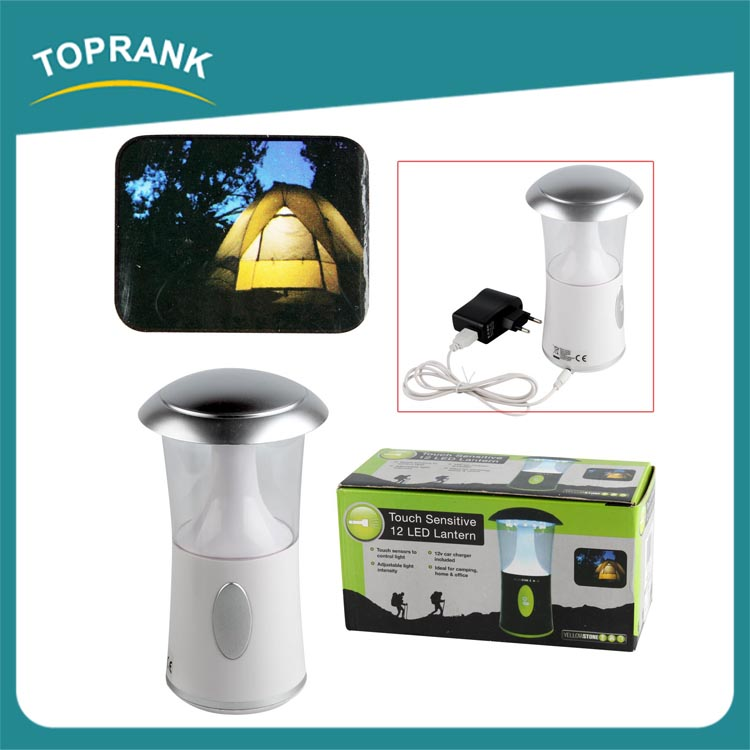 New design outdoor touch sensitive adjustable light rechargeable led camping lantern