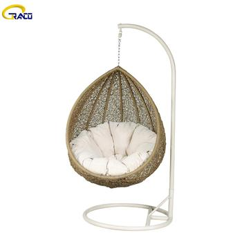 Popular Outdoor balcony wicker teardrop swing chair