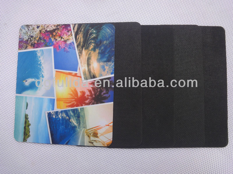 rubber+fabric mouse pad with dye-sublimation