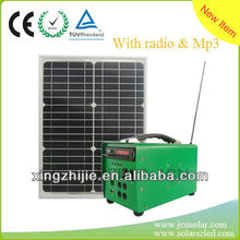 Eco-friendly solar generator with Mp3, radio functions