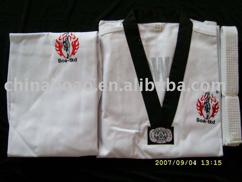 White teakwondo uniform