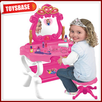 Girls toy make up mirror dressing table with chair