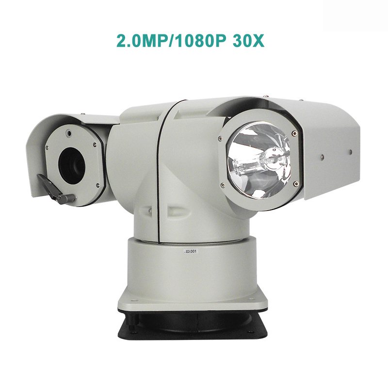Ruggedized 1080P HD 30X Optical Zoom IP/SDI/AHD/Analog Vehicle Xenon PTZ Camera