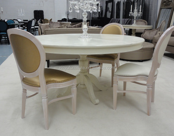 European style white dining table and chair set XY0755