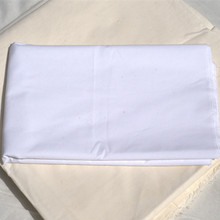 White 100% Cotton Sateen Hotel Linen Bed Sheet Fabric