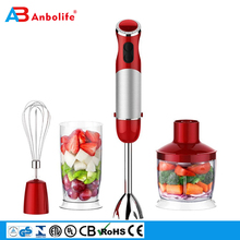 New 3in1 Kitchen Food Processor Smart Stick Variable Speed Smoothie Juicer Hand Blender With Chopper