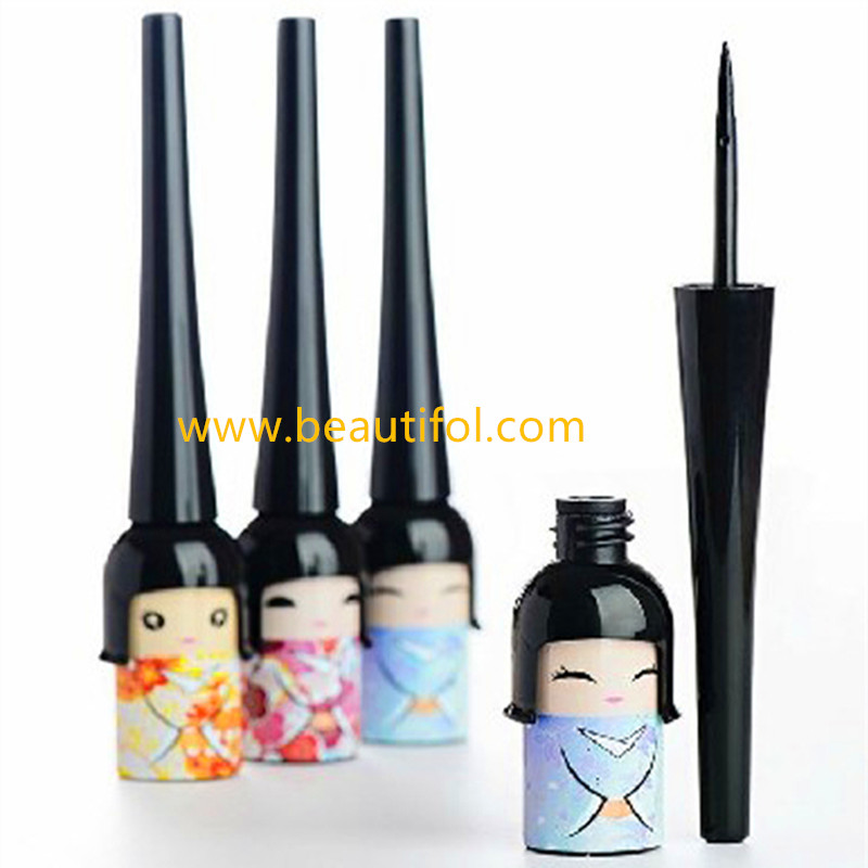 Portable gel eyeliner waterproof liquid eyeliner easy color and remove made by makeup manufacture