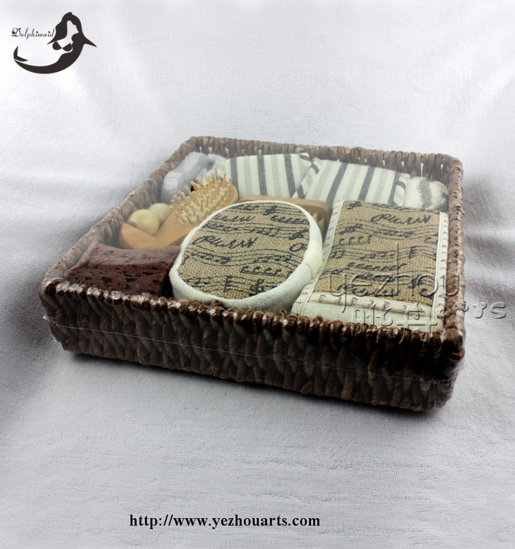 New products bath spa gift set with woven basket