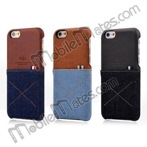 Wholesale Kajsa Mobile Phone Case for iphone 6/ iphone 6 plus Kajsa Jean Leather Cover Case