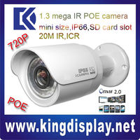 DAHUA DH-IPC-HFW2100 CHEAPEST small ir bullet IP CAMERA IR 20M 720P with POE 802.3 af day/night security system ip camera
