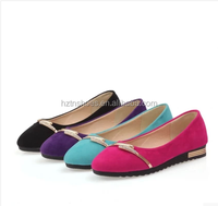 2015 New design summer/spring women's ballerina shoes flat candy color moccasins casual shoes manufacturer