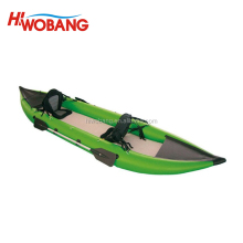 Light Green Cheap Inflatable Rubber Sea Kayak for sale in China