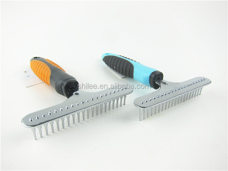 Stainless steel pet comb for dogs and cats
