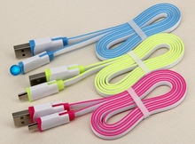 High Speed double colorful USB Charging Cable Mobile Phone Charger Adapter Cable