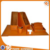 China manufacturer supply seven piece brown PU leather conference room set