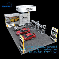 large island car exhibition booth solution design trade show display in Expo fair trade show