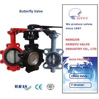 Wcb/Cast Iron/Cf8m/Cf8/Cf3/Cf3m Wafer Type Double Triple Eccentric Metal Seal Butterfly Valve
