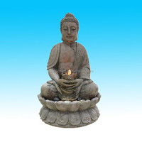 indoor polyresin statues buddha fountain for sale