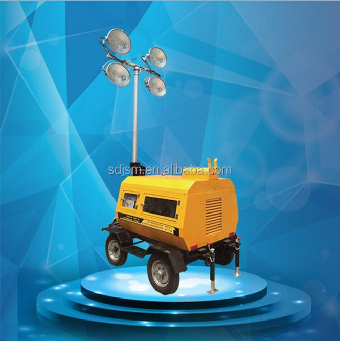 Portable Construction Lights Tower Used Diesel Generator
