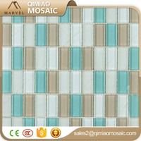 23X48mm Mix Colors Strip Glass Mosaic Tile Modern Home Decor