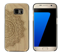 2016 wood carving phone case, wooden phone cover for samsung s7, art wood carving mobile phone bamboo wood cases