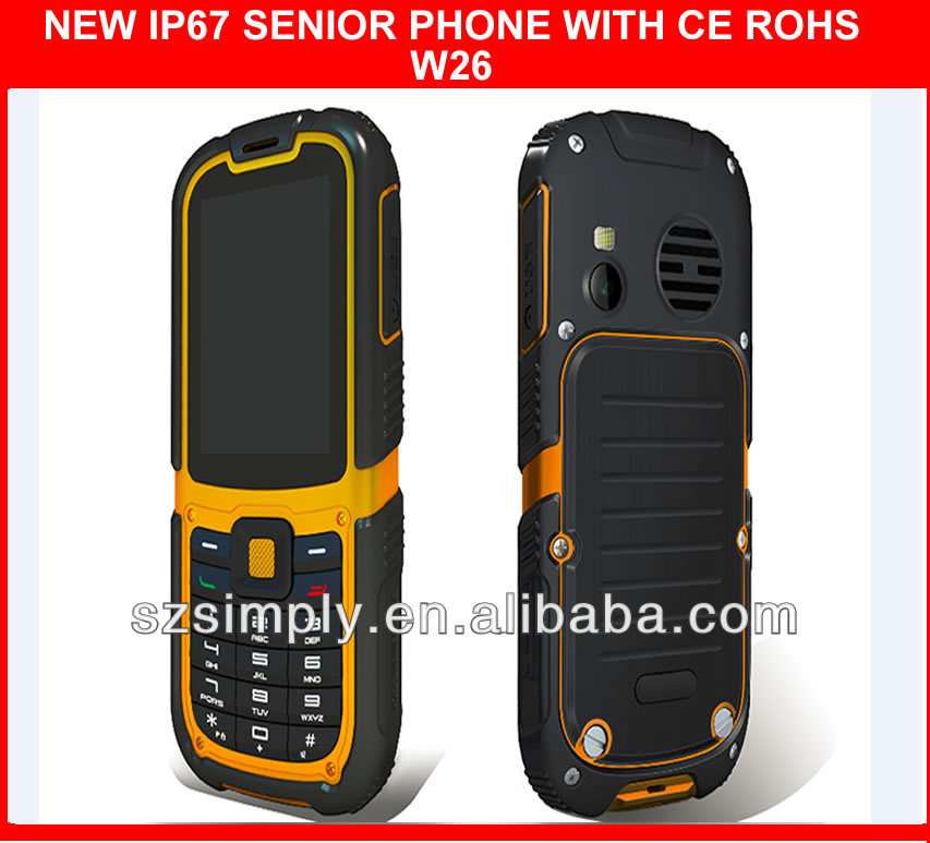 2013 IP67 wateproof senior phone SOS