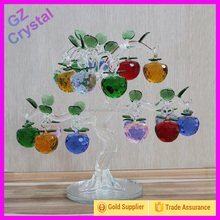 Fashionable Crystal Glass Apple Tree Craft For Decoration